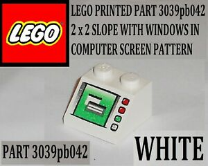 LEGO® White Slope 45 2 x 2 Windows in Computer Screen Pattern