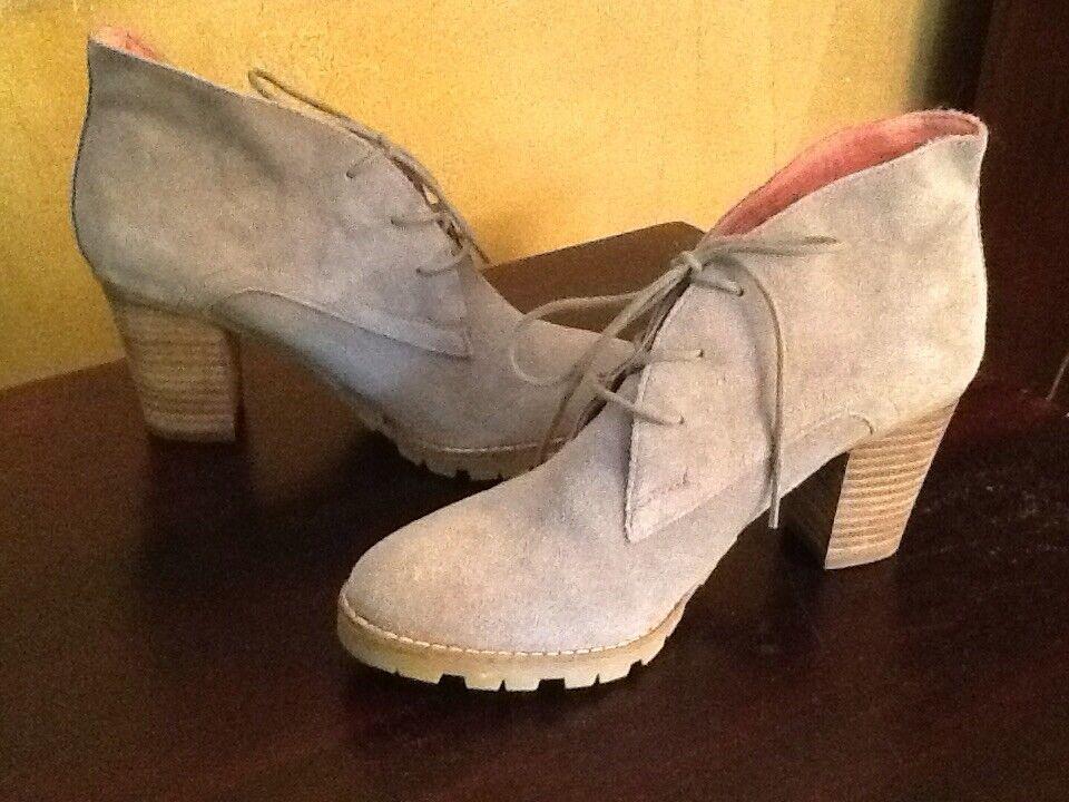 NEW GAP 1969 Chukka Suede Leder Stiefel Leder Suede Wood Heel Lace-up Größe 8/39 Lug Sole a6e547