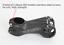 Black Aluminium XC MTB Mountain Road Bike handlebar stems Bar 7° Stem 31.8*80mm