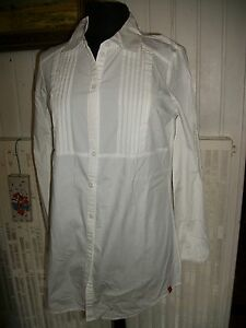 M Edc Blanc Esprit Chemisier Tunique Blouse Stretch Long 3840 BcqzZ
