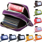 Fashion Leather Security RFID Accordion Wallet Zipper Case Credit Card Holder