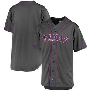 5cba00029 Details about Texas Rangers Men s Charcoal Fashion Big   Tall XLT-6XL Team Jersey  MLB