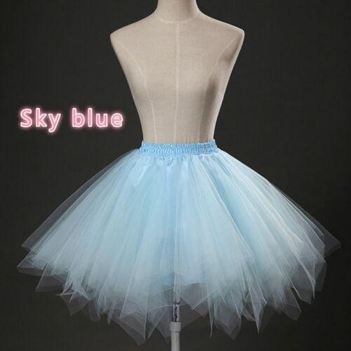 Lady Girl Lolita Petticoat Fancy Swing Tulle Tutu Skirts Crinoline Cosplay Short