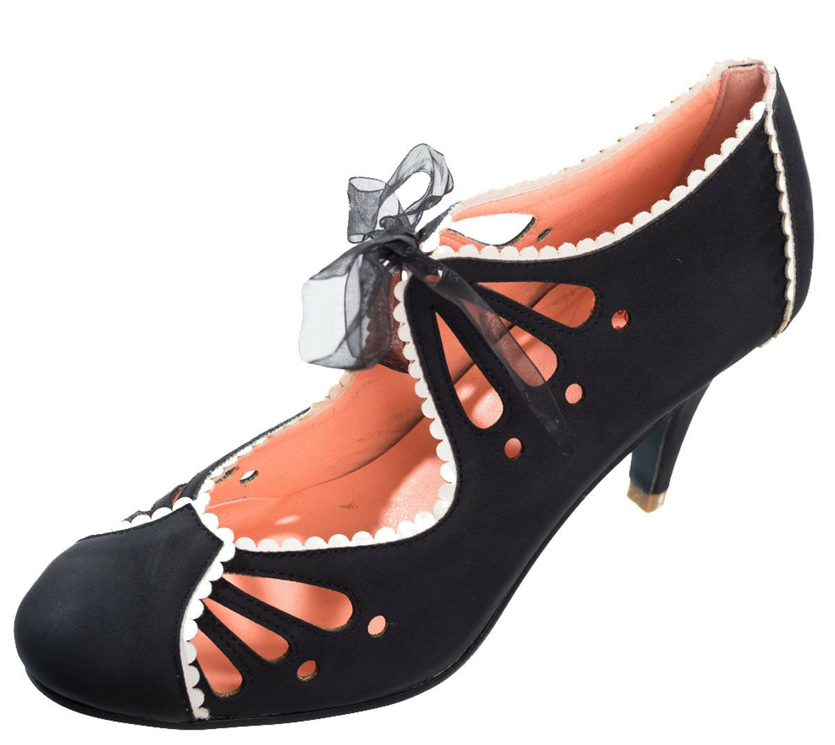 Dancing Days  RENOE Vintage Lochmuster 40s  Days Budapester Heels / SCHUHE Rockabilly 1dba10
