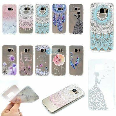 ULTRA THIN FASHION Soft Rubber Back TPU GEL Case Cover For Samsung Galaxy Phones