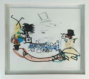 Abstrait. Technique Mixte Sur Papier. Daniel Ensesa. 2004 Beau Travail