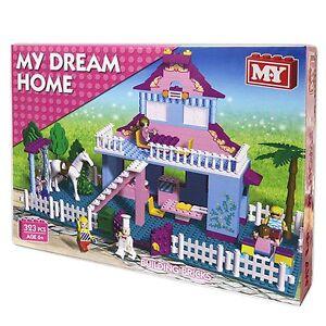 Dream-Home-Princess-Pink-House-Girls-Bricks-Blocks-Building-Construction-Set-Toy
