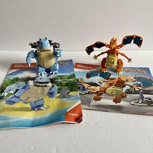 Mega-Construx-Pokemon-Charizard-amp-Blastoise-Lot-w-Manuals