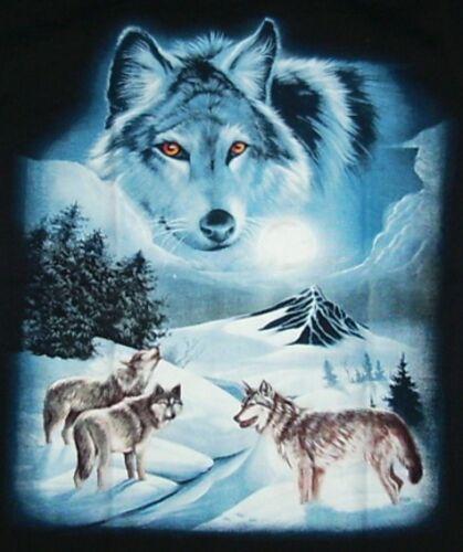 Lupo Western Capo Tg T-shirt Wolf indiani Zoo Inka Biker 110*116*134*140