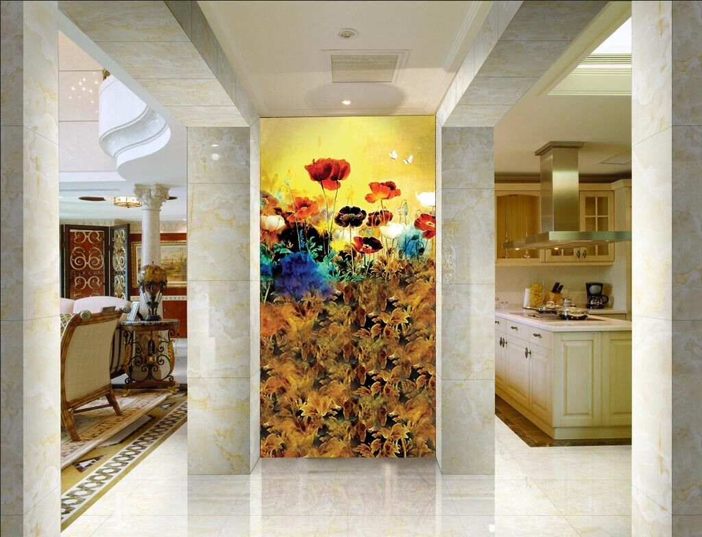 3D Flowers Plant 4533 Wall Paper Wall Print Decal Wall Deco Indoor Mural Carly