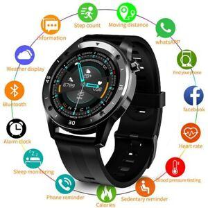 Bluetooth Smartwatch Armband Pulsuhr Blutdruck Herren Damen Fitness Tracker DHL