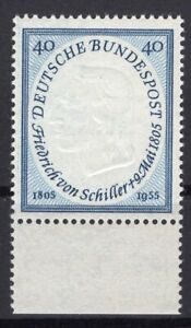 Germany 1955 Schiller Mi #204-226 clean MNH OG signed schlegel BPP