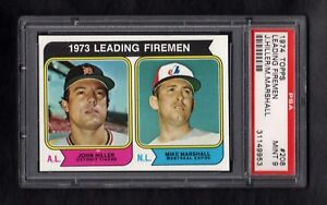 1974-TOPPS-208-LEADING-FIREMAN-HILLER-MARSHALL-PSA-9-MINT-SHARP