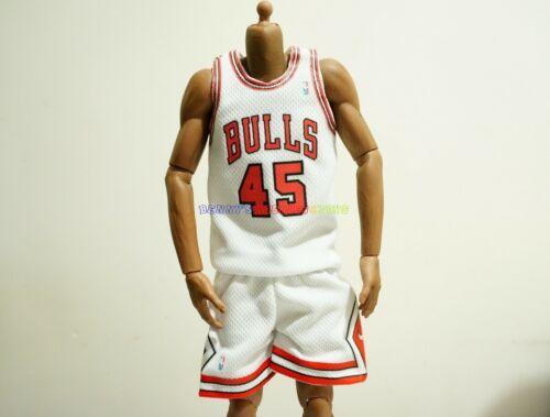 1//6 NBA Chicago Bulls #45 Michael Jordan Home Jersey White per Enterbay Figure