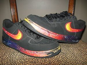 sports shoes 4dff6 289b5 ... low asteroid meteor galaxy black fire ... Image is loading Nike -Men-039-s-AIR-FORCE-1 ...