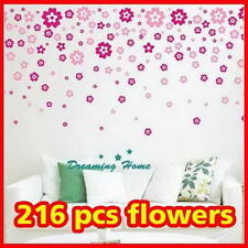 Flower rain Wall decals Removable stickers decors DIY art living bed kids room
