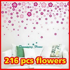 Flower-rain-Wall-decals-Removable-stickers-decors-DIY-art-living-bed-kids-room