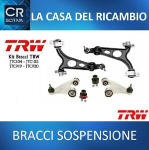 KIT 4 BRACCI ALFA 147 156 GT ANTERIORI SUPERIORI E INFERIORI ORIGINALI TRW