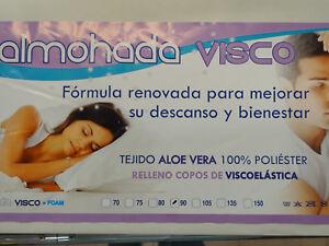 Almohada economica   70 75 80 90 105 135 150 relleno copos de viscoelastica aloe
