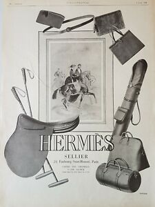 HERMES-Publicite-1926-Selle-polo-bagages