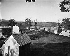 New 8x10 Civil War Photo: Pontoon Bridge Near Sharpsburg, Antietam Battlefield