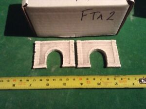 2x single Track tunnel  - Z scale gauge- painted and weathered- ..concrete Type