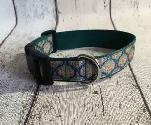 Collar de Perro Verde Azulado tonos único Funky Pet Supply regalo hecho a mano