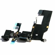Black Headphone Audio Dock charger Charging Data USB Port Flex Cable iPhone 5 5g