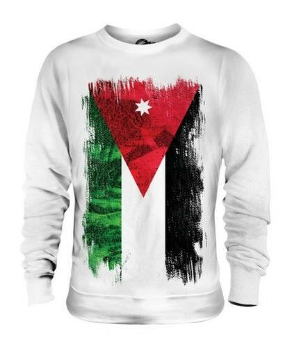 JORDAN GRUNGE FLAG UNISEX SWEATER TOP AL-ÆURDUN FOOTBALL JORDANIAN GIFT SHIRT