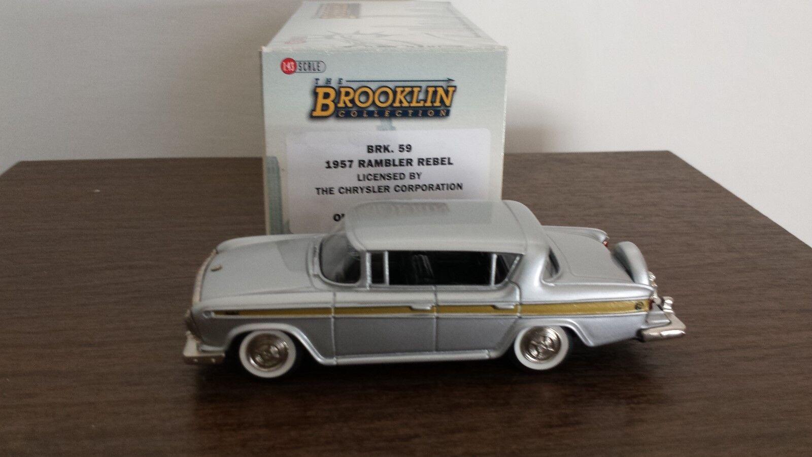 Brooklin models Rambler Rebel 1957 1957 1957  BRK 59 1:43 f80f4f