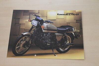 Sales Brochures Delicious 167132 Car & Truck Manuals Kawasaki Z 750 Gt Prospekt 198?