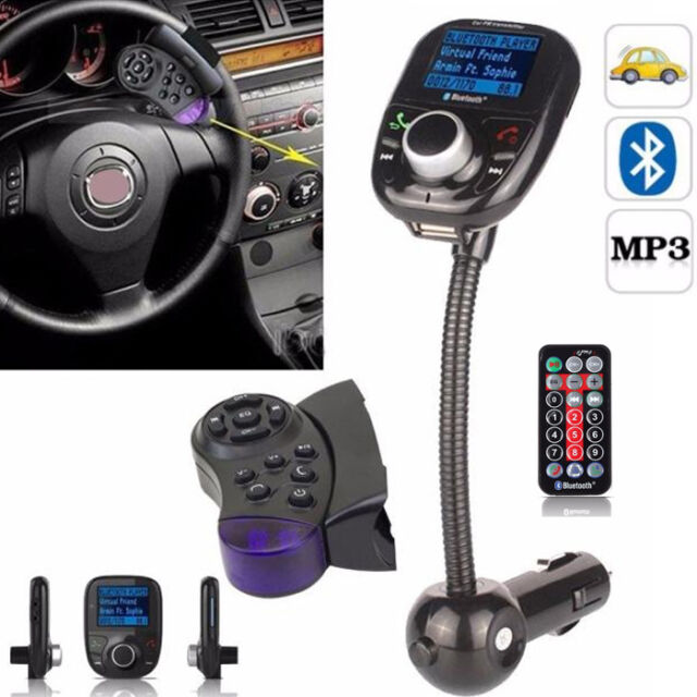 LCD Car Kit MP3 Bluetooth Player Audio FM Transmitter FM Modulator Radio SD MMC