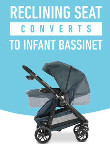 Graco Baby Modes Bassinet Click Connect 4-Wheel Stroller Cutler NEW