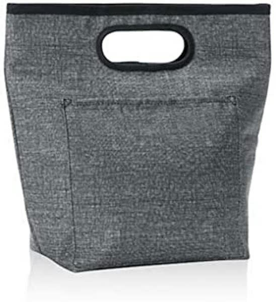 Thirty one Go-To Thermal Picnic Fishing Lunch tote Bag Charcoal Crosshatch 31