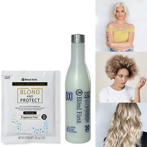 Details about DIY Blond & Protect 8+ Level Hair Bleach Lightening Kit Combo  -20 Vol Developer