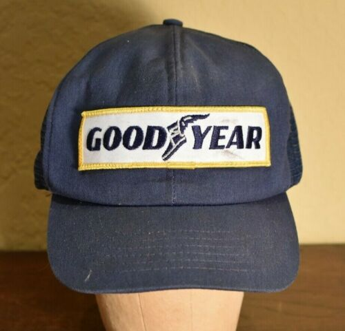 Vintage 80/'s Goodyear Tires Car Racing Nascar Trucker Hat Snapback Baseball Cap Patch Swingster Logo Made In USA