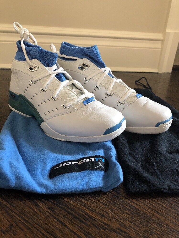 Nike Air Jordan 17 Xvii  Low White University bluee Rhythm Wizards Rare Vintage