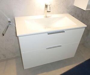 burgbad eqio glaswaschtisch mit unterschrank wei hochglanz seyx092f2009 ebay. Black Bedroom Furniture Sets. Home Design Ideas