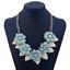 Fashion-Elegant-Women-Bib-Crystal-Pendant-Statement-Chain-Chunky-Choker-Necklace miniature 4