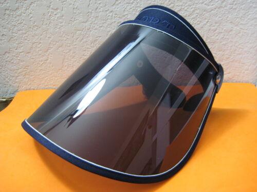 SUN VISOR NAVY BLUE Full FACE HEAD SHIELD MASK For Solar Shade UV Protectant HAT