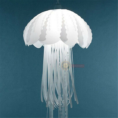Creative Glow Jellyfish Lampshade Ceiling Chandelier Light Pendant Hanging Lamp