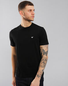18eedd179 Image is loading Emporio-Armani-Plain-Pima-Cotton-T-Shirt-Black