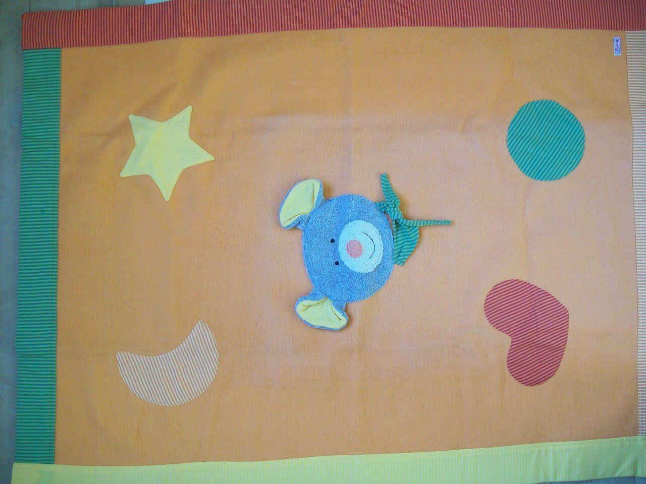 Sigikid Decke Merry Mus 100 x 75 75 75 cm Ausstellungsstück verfärbt Kinderdecke de05b8