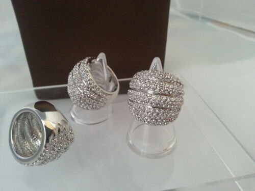 """Caída de precios!! anillo /""""couture/"""" de latón plateado rhodiniert cristales joyas nuevo"""