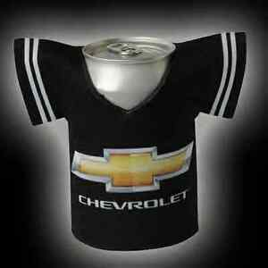 Chevrolet race gold chevy bowtie jersey t shirt beer can for Shirts and apparel koozie