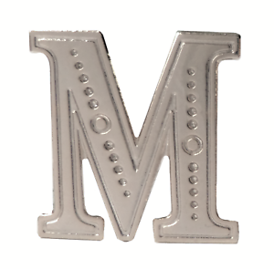 Letter M Nickel-Plated Orange Order Collarette Character