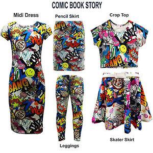 Costume 13 Haut Détails Mode Leggings Filles 7 Graffiti Imprimée Longue Court Robe Mi Sur Bd 4LjARq35