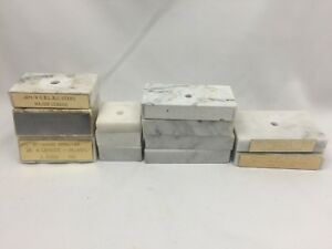 LOT-OF-12-VINTAGE-TROPHY-BASES-WHITE-ITALIAN-CARRARA-MARBLE-2x2-034-2x3-5-034-2x4-034