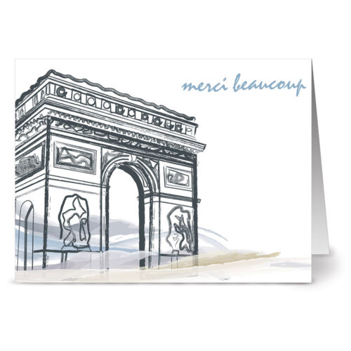 Arc de Triomphe Ivory Envs 24 Thank You Note Cards