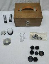 Unitron R5x Microscope Lenses X2 In Case Accessories